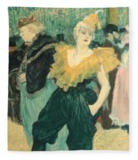 Clowness Cha-u-kao At Moulin Rouge Fleece Blanket