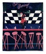 Club Flamingo Fleece Blanket