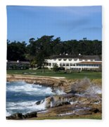 Clubhouse At Pebble Beach Fleece Blanket
