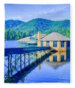 Clubhouse On Lake Tahoma Fleece Blanket