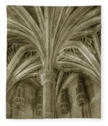 Cluny Museum Ceiling Detail Fleece Blanket