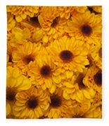 Cluster Of Yellow Blooms Fleece Blanket