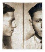 Clyde Barrow Mug Shot Fleece Blanket
