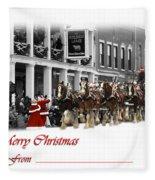 Clydesdale  Team Christmas Card Fleece Blanket