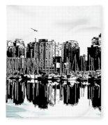 Vancouver Canada Coal Harbour Centre Panel Fleece Blanket