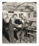 Coal Mine Hospital, C1917 Fleece Blanket