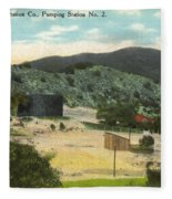Coalinga Oil And Transportion Co. Pumping Station No. 2 Circa 1910 Fleece Blanket