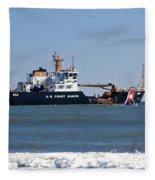 Coast Guard Cutter Fleece Blanket