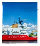 Coast Guard Cutter Mackinaw Fleece Blanket