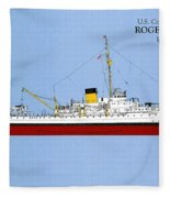 Coast Guard Cutter Taney Fleece Blanket