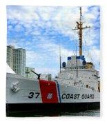 Coast Guard Cutter Taney Fleece Blanket