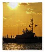 Coast Guard In Paradise - Key West Fleece Blanket