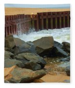 Coast Of Carolina Fleece Blanket