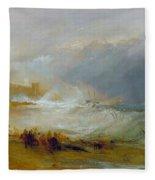Coast Of Northumberland Fleece Blanket
