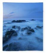 Coastal Landscape At Trollskjeran Fleece Blanket