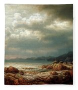 Coastal Landscape Fleece Blanket