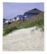 Coastal Living In Topsail Beach Nc Fleece Blanket