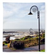 Coastal Overview At Lyme Regis Fleece Blanket