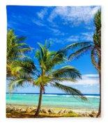 Coastal Palm Trees Fleece Blanket