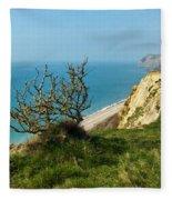 Coastal Path - West Bay To Eype  Fleece Blanket