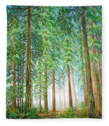 Coastal Redwoods Fleece Blanket