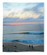 Coastal Ribbon Candy Fleece Blanket