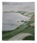Coastal Ribbon Fleece Blanket