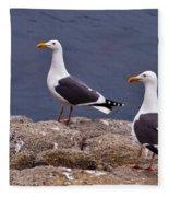 Coastal Seagulls Fleece Blanket