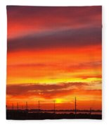 Coastal Sunset Fleece Blanket