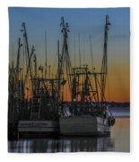 Coastal Sunset Fleece Blanket