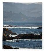 Coastal View - Big Sur II Fleece Blanket