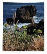 Coastal View From Cascais  Fleece Blanket