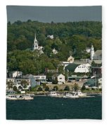 Coastal Village Fleece Blanket