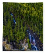 Coastal Waterfall Fleece Blanket