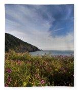 Coastal Wildflowers Of Oregon Fleece Blanket