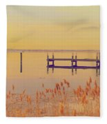 Coastal Winter Fleece Blanket