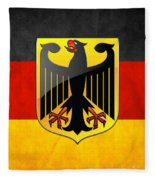 Coat Of Arms And Flag Of Germany Fleece Blanket