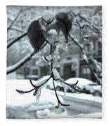 Coat Of Ice - Winter In New York Fleece Blanket