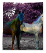 Coats Of Many Colors Fleece Blanket