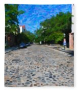Cobblestone Street Fleece Blanket
