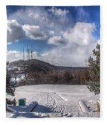 Cobbs Hill Park In Winter Fleece Blanket