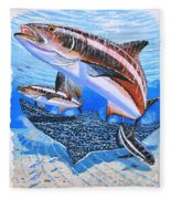 Cobia On Rays Fleece Blanket