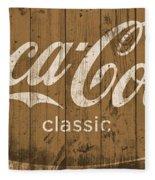 Coca Cola Classic Barn Fleece Blanket