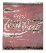 Coca Cola Pastel Grunge Sign Fleece Blanket