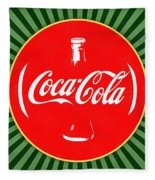 Coca Cola Pop Art  Fleece Blanket
