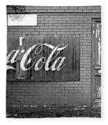 Coca-cola Sign Fleece Blanket