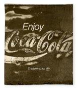 Coca Cola Sign Fleece Blanket