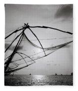 Dusk Over Cochin Fleece Blanket