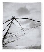Sunset Over Cochin Fleece Blanket