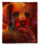 Cockapoo Dog Fleece Blanket
